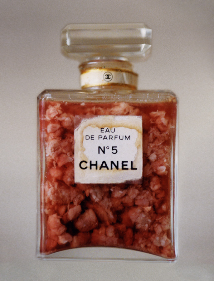 42 CHANEL NO.5 PERFUME BOTTLE WITH RAW MEAT